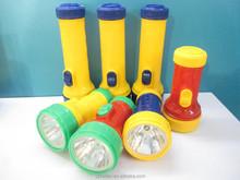 High Power Torch Light Dry battery Led Flashlight 2D