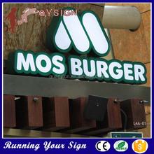 Optional brightness letter galvanized custom sign words
