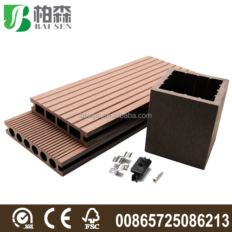 Anti Slip Wood Plastic Composite Deck Board Wpc Deck