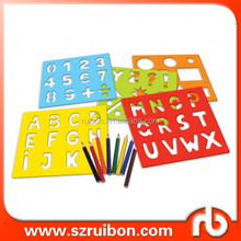 PET Mylar stencils Custom Plastic Alphabet drawing stencil for children