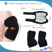 Tourmaline OEM,ODM provide fashion bent surface black knee sleeve