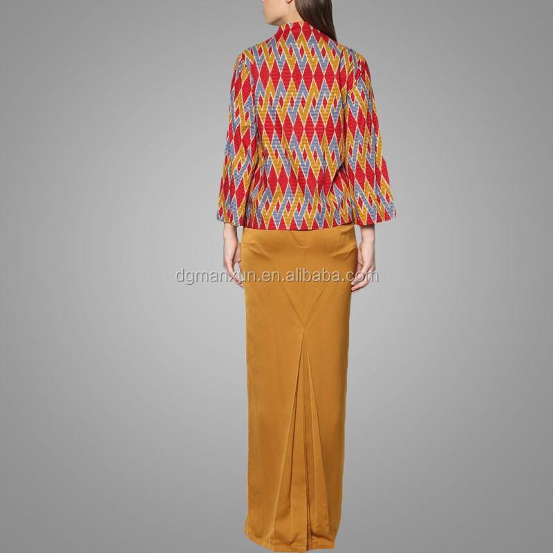 New design dubai abaya 2016 high quality malaysia baju kurung modern
