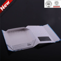 Elegant white folding paper gift box with pvc window for sale in Shenzhen