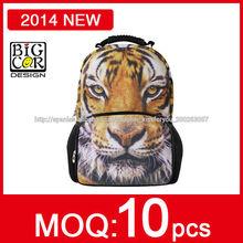 2014 Moda Tendencia Mochila Durable,tigre mochila