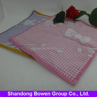 Pink KT jacquard 100% cotton small baby face towel