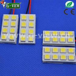 Superbright 12 volt car led light,6 smd led auto light ,car led interior light
