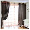 Tela de la cortina de la india, balcón de la cortina, linaje ojal- la parte superior del panel de la cortina