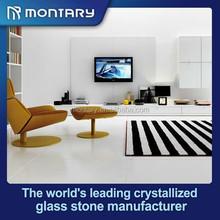 crystallized glass white dance floor