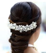 Bridal Wedding Pearl Beauty Crystal Rhinestone Hair Comb Clip Headpiece