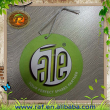 2015 New style Advertising Promotional Logo Printed Paper Car Air Freshener
