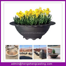 China manufacturer Barcelona style flower pot ductile iron street furniture flower pot