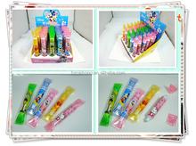 CH-6639 Plastic candy pen,cute shape,customized
