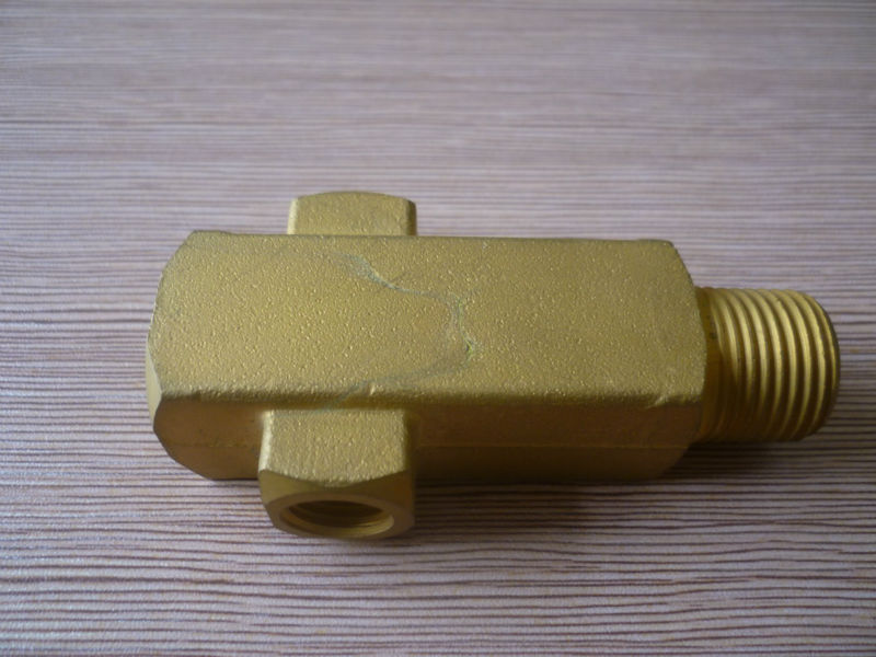 Wholesale brass square cross connector four way copper