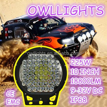 Good price!! Used for jeep suv atv round led working light 4x4 accessories 10 inch 225W led driving lights