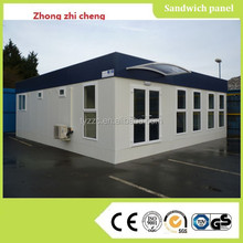 luxury prefab steel villa with pu sandwich panel for garden