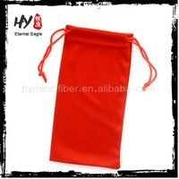 Wholesale swim glasses packing bag,microfiber 100% polyester sunglasses pouch,cotton canvas sunglass pouch
