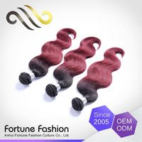 Promotional Price Elegant And High-End 100% Human Peruvian 2 Tone Human Hair Weave Natural Colored Extension