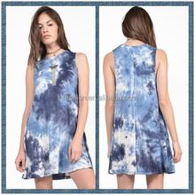 2015 New Arrival Fashion Plus Size Tie dye Mini Dresses