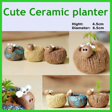 New arrival cute mini christmas flower pot ceramic cement planter