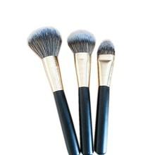 3 PCS Synthetic Hair Wooden Handle Makeup Brush Set , Free Samples Custom Logo