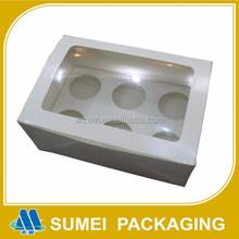 China manufacture custom mini cardboard paper cupcake box for 6 pack