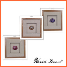 2015 New Wooden Frame Home Decorative Agate Picture