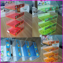 8-Bins Rotating Cellphone Accessories Holder Counter Car/Home/Wall Chargers Stand Acrylic Wireless Accessories Display Case/Rack