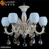 Chandelier replacement glass crystal beaded columns contemporary lighting pendants OMC029-6W