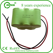 nicd d 6v 4000mah rechargeable power tool battery pack