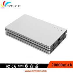 High quality made in china 12v oem 20000mah mobile power bank 20000mah