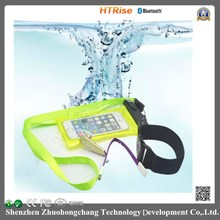 HTRise new waterproof bluetooth kit,earphone with case and armlet suitable for your aquatic sporting