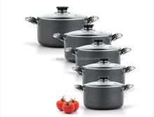 Popular design super cookware set with non-stock ceramic coating