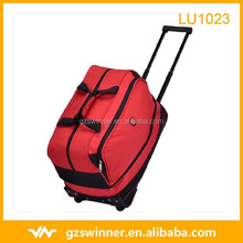 High-end red color travel Trolley bag portable large capacity luggage waterproof polyester travel bag