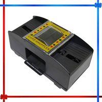 HT021 2 in 1 automatic blackjack card shoe card shuffler plastic card shoe for 2 deck
