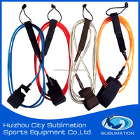 Surfing Leash, Assorted Colours, TPU Cord, Brass/Stainless Steel Swivel/Silk Printing Gard, Neoprene AnkleStrap