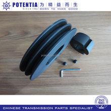 Flat gear accessory belt pulley