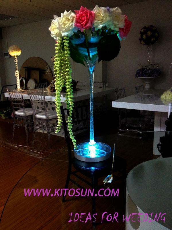 8inch Led Tall Vase Base Wedding Decoration Led Light Table
