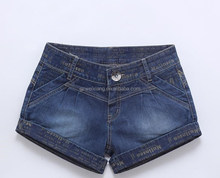 women customed printed letters jeans shorts sexy crossed legs