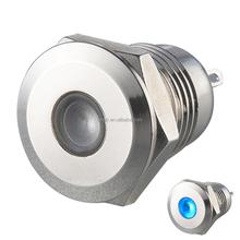 6V/12V/24V 12mm metal pilot lamp with blue color LED