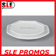 bulk cheap octagon ceramic plate,white bamboo design dinner dishes,wholesale wavy charger serving dishes for restaurant&hotel