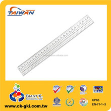 High Quality 25cm transparent arcylic scale ruler