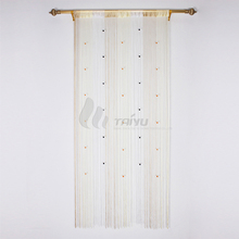 Gorgeous beaded gold metal living room fringe string curtain