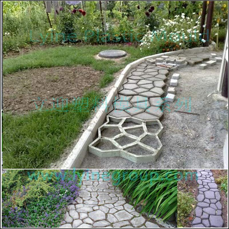 Lyine Diy Plastic Concrete Stepping Stone Patio Stamping Decorative ...