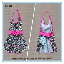 2015 new style wholesale dog clothes leopard summer pet dress