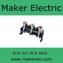 3 holes cable video jack rca RCA-321