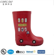 2015 nouveau Design rouge Style de voiture et pas cher, Haute Qulity caoutchouc bottes de pluie pour enfants