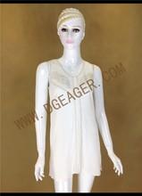 Original Design Women Embroidered White Linen Dress for Summer