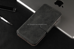 Genuine leather cover case for iphone6 plus, wallet leather cover for iphone 6G, for iphone 6 flip case HH-CPI6014(30)