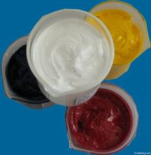 Textile chemical thickening agent with binder
