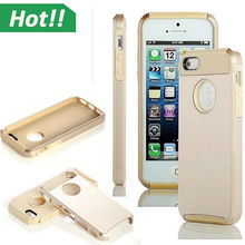 hybrid TPU PC shockproof hard case for iPhone 5 6 cover